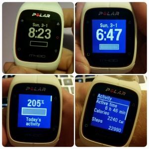 Polar M400 - Daily Activity Screens