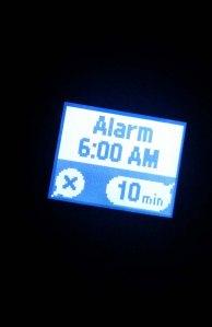 Polar A300 has a watch alarm