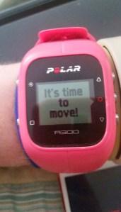 Polar A300 Inactivity Alert